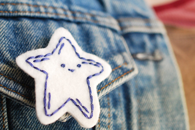 Stitched Star Pin