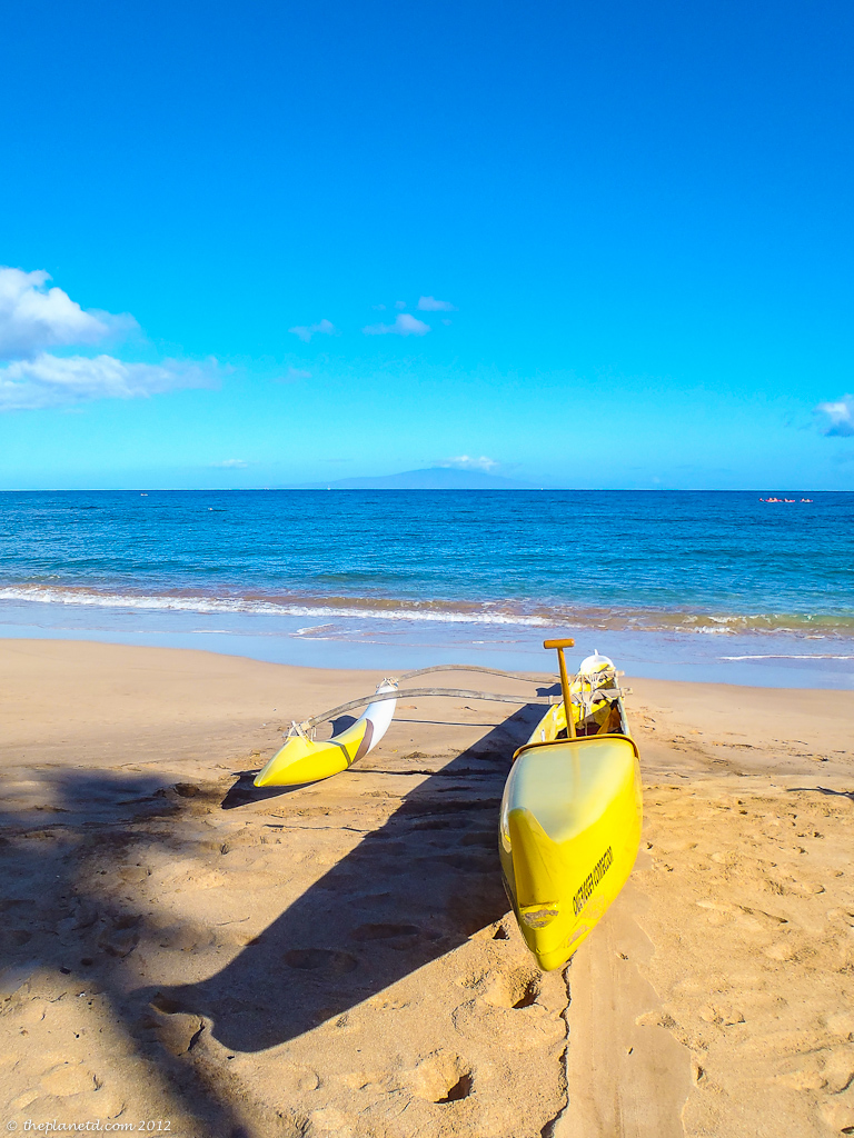 travel photo of traditional canoe in Maui