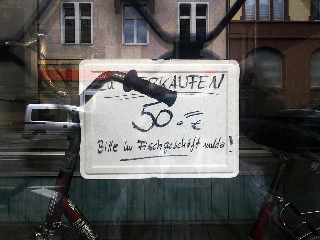 Fisch mit Fahrrad