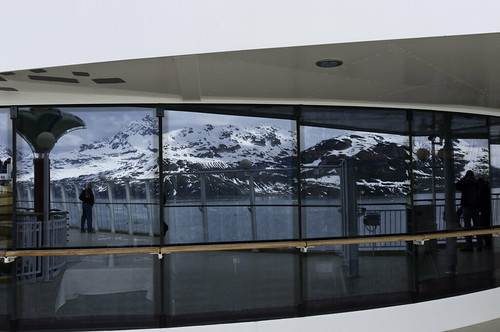 Glacier Bay reflection in the Pearl's windows