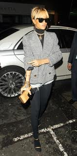 Rihanna Tweed Jacket Celebrity Style Women's Fashion