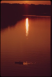 Sunset On The Polluted Potomac, September 1973
