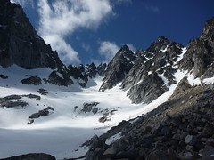We scope out the North Buttress Couloir