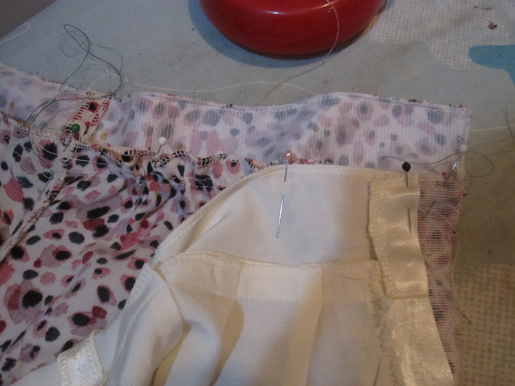 Fold in Lining at Midriff for Zipper