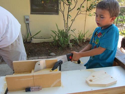 Ezra sawing