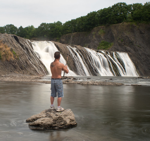Fishing at Cohoes Falls-2688