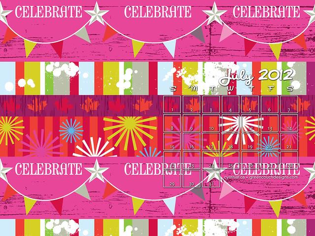 July 2012 Calendars