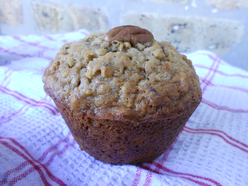 Toasted Oat Banana Muffins