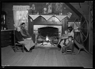 Interior of the home of Mrs. Jacob Stooksbury. This homestead is in the region which will be inundated by the waters of the Norris Dam reservoir, November 1933