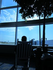 Waiting at CLT during our layover