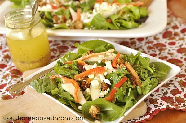 Pear and Champagne Vinaigrette Salad