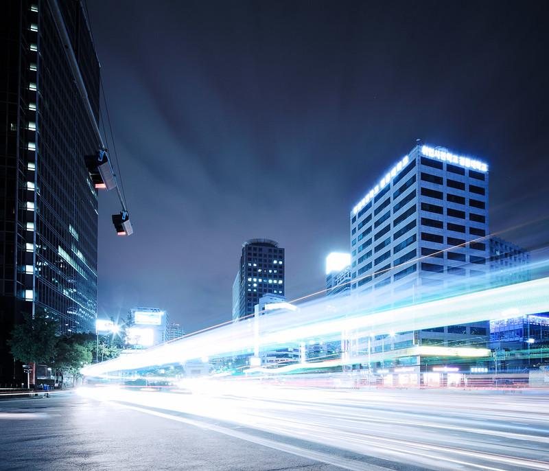 Seoul Busy Traffic.