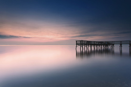 longexposure color canon dawn pier earlymorning maryland ethereal bluehour predawn canonef1740mmf4lusm calvertcounty flagponds 5dmkii singhrayrgnd