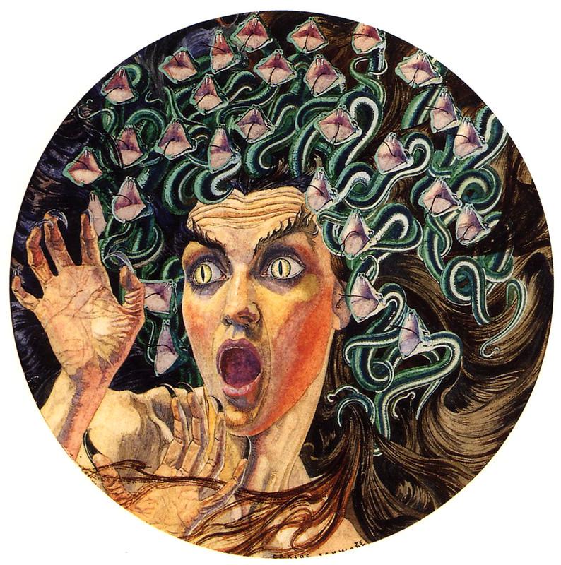 Carlos Schwabe - Medusa, 1895