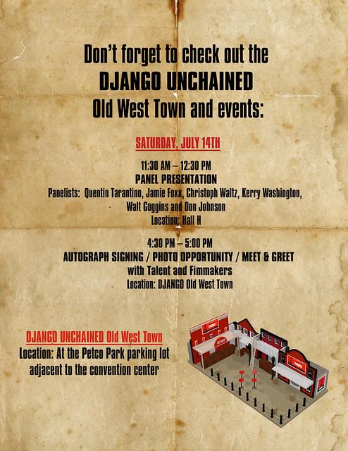 DJANGO UNCHAINED WANTED, Comic-Con