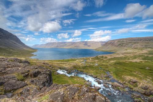 landscape waterfall iceland fjord hdr strung tonemapped dyjandi day4breidaviktoisafjordur johnstrung