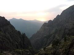 Campu di Vetta : coucher de soleil sur Galeria