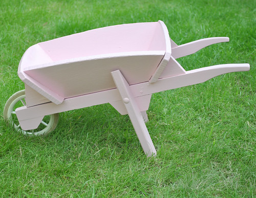 Pink kids wheelbarrow
