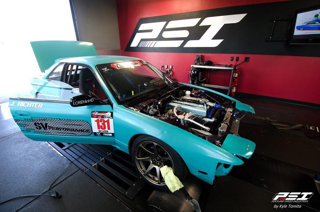 Jeremy Richter 1JZ Nissan S13 on the dyno at PSI
