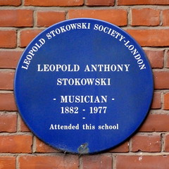 Photo of Leopold Anthony Stokowski blue plaque