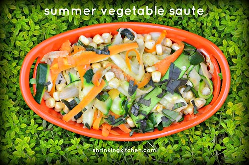 Summer Vegetable Saute from Shrinkingkitchen.com