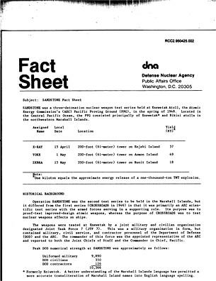 Sandstone Fact Sheet