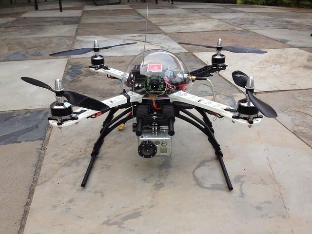 Rebuilt FPV quadcopter