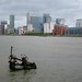 Canary Wharf at high tide