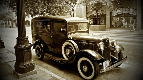 Vintage Ford,  Sixth street Austin Texas by Paul Samaras Photography