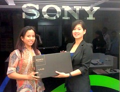 at SONY Philippines office