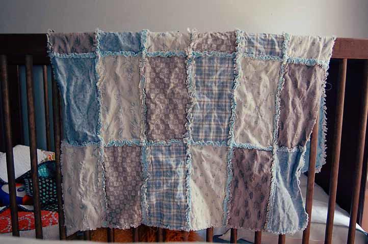 Brick Pattern Rag Quilt
