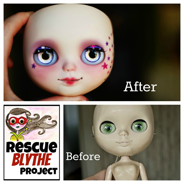 Before/ After Rescue Blythe Project