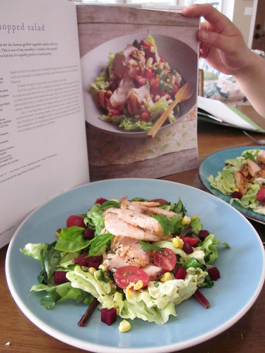 salmon salad & recipe
