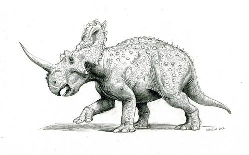 centrosaurus pencil