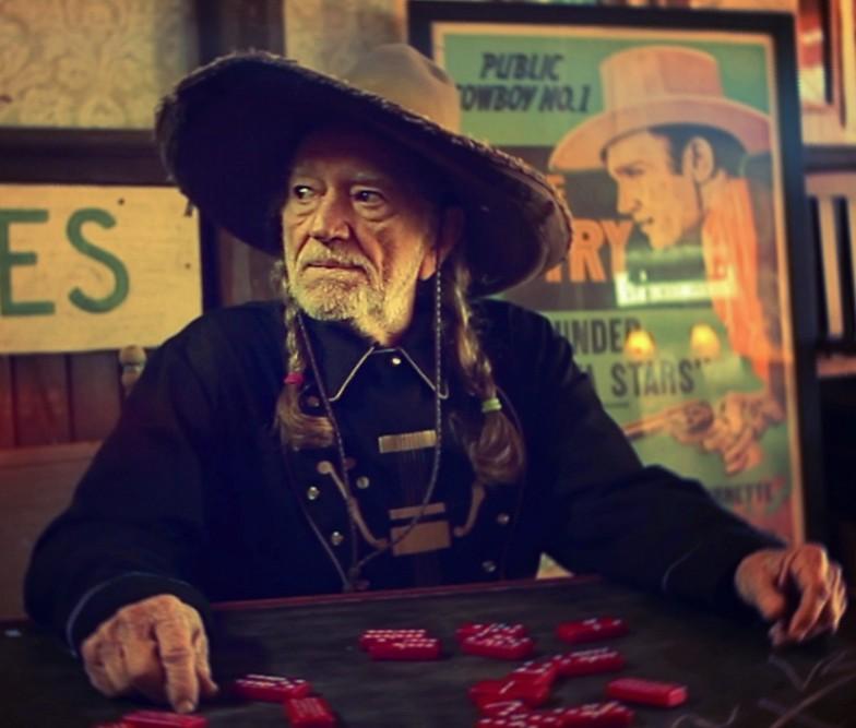 Willie plays dominoes