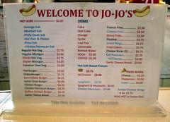 Menu At Jo-Jo's Fair Stand.