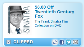 $3.00 Off The Frank Sinatra Film Collection On Dvd  Coupon