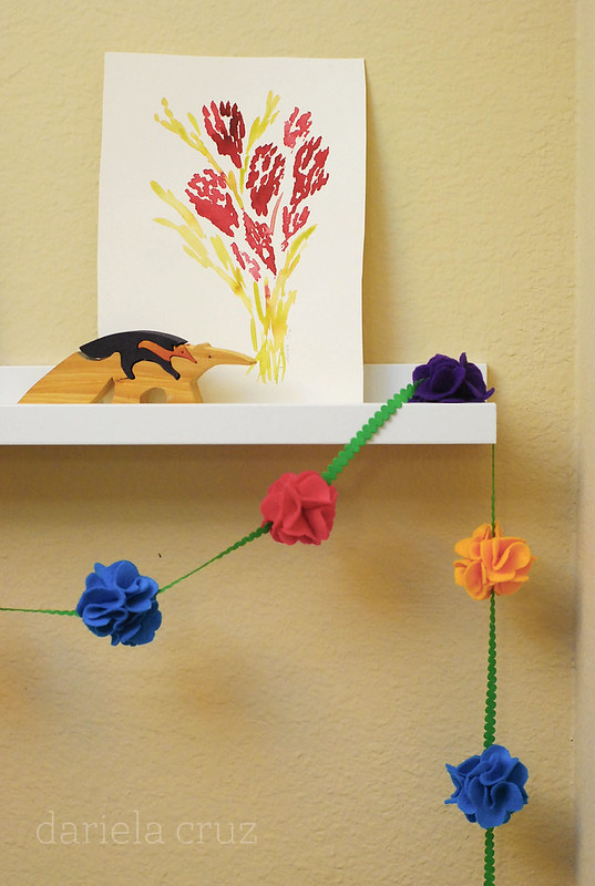 Flower Garland on shelf