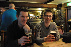 The boys in the Cottage Loaf pub