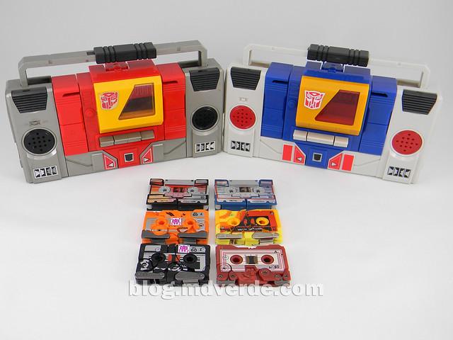 Transformers Nightstalker - G1 Encore - modo alterno vs casetes vs grabadoras Autobots