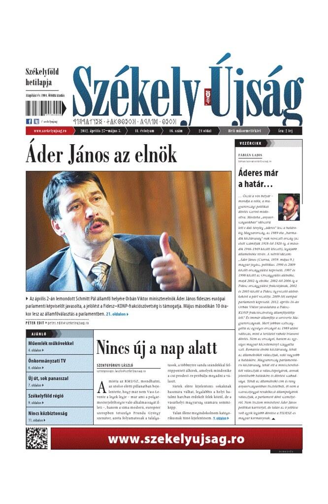 Székely Újság apr.26.2012