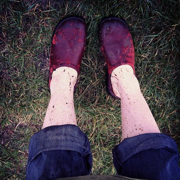 Muddy mama #fromwhereIstand #puddles #rainydayfun #play