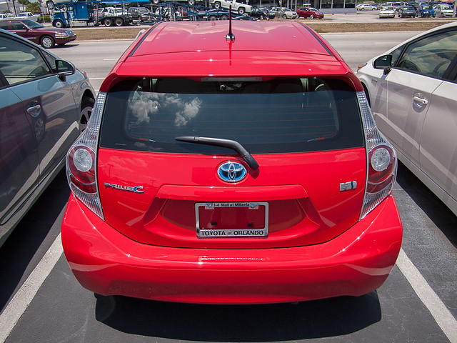 Prius C 2012 Rear Hatch