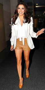 Eva Longoria White Blazer Celebrity Style Fashion