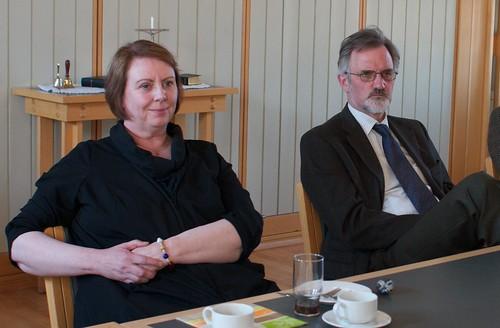 Agnes M. Sigurðardóttir og Gunnar Kristjánsson