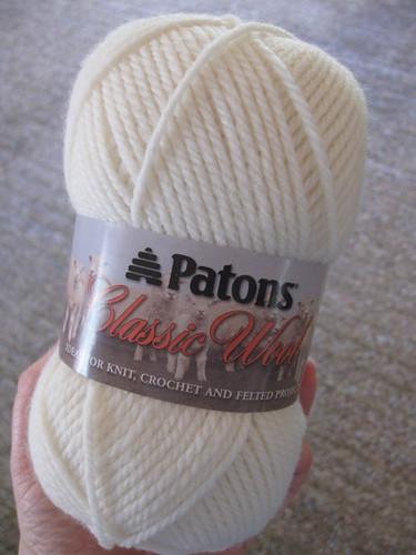 boring winter white skein of wool