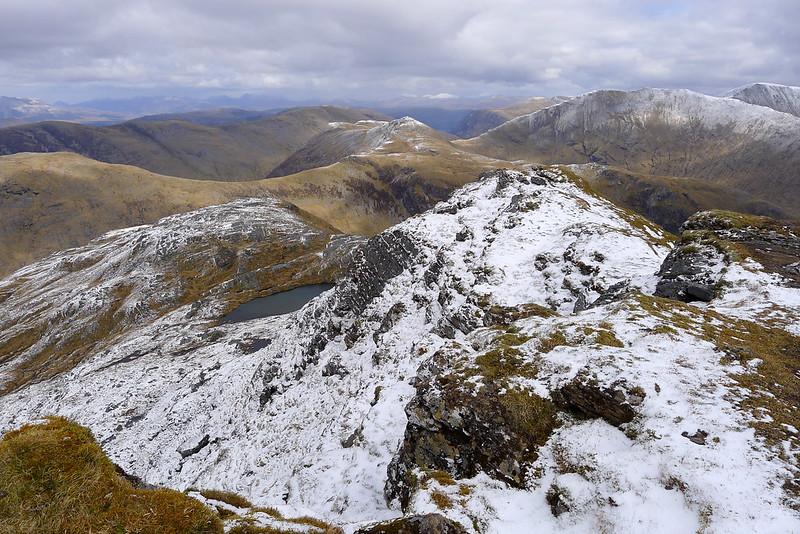 Beinn Tharsuinn from the summit of Sheasgaich