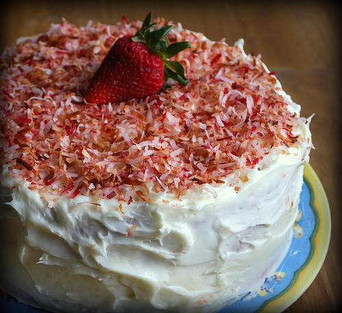 Southern Strawberry Cake whole