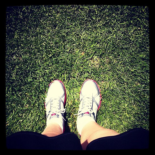 Breaking in my new running shoes. A Mother's Day gift from Mike. #exercise