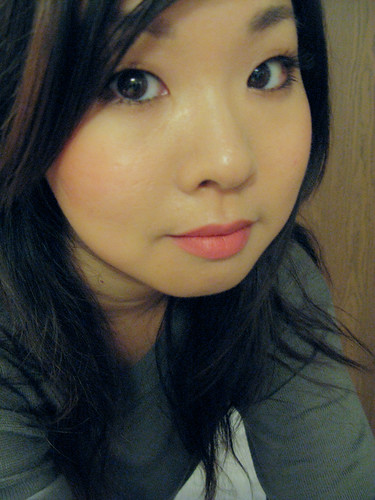 Before & After: Neutral Eyes, Coral Lips and Peachy Cheeks FOTD